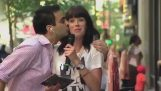 People Kissing News Reporters on Live TV