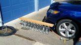Можете да надуете гума с водно налягане;