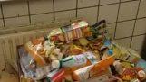 rifugiati siriani infelice che i tedeschi non pulire i loro rifiuti