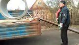 Разтоварни бетонен пръстен в Русия