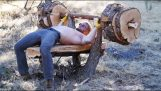 Build a bench press from a tree