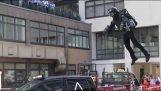 """Richard Browning demonstrates His """"Iron Man Suit"""" (London)"""