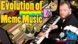The musical evolution of memes (1500 AD – 2018)