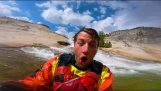 Kayaking cliff downhill with Dane Jackson