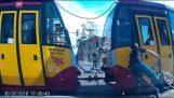 Cyclist vs Tram