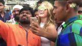 Wenn Sie in Indien blond