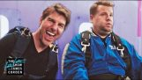 Tom Cruise Forze James Corden Skydive