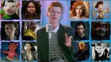 """""""Never Gonna Give You Up"""" sung by 169 movies"""