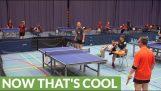 Jedným z najviac neuveriteľných ping pong záberov vôbec