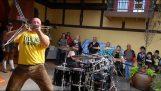Funny drum solo