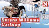 ציור קומיקס סרינה וויליאמס יוצר מחלוקת