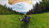 丹尼尔·科夫勒切丝speedflying风格在奥地利和他的GoPro相机融合