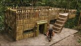 Build a wooden survival house with your own hands