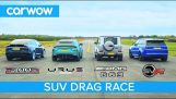 Drag Race among the most powerful SUVs