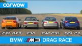 BMW M3 generatii DRAG RACE