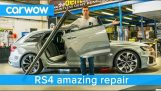 Fixing dents on an Audi RS4