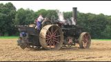 Plowing with a steam engine
