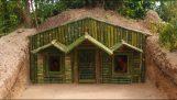 Пещерата къща с бамбук фасада
