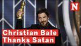 克里斯蒂安·贝尔感谢撒旦,收集他的金球奖