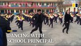Shuffle Dance during recess in this Chinese school