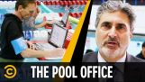 Office in a swimming pool
