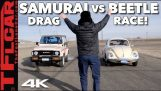 The slowest Drag Race in history: Suzuki Samurai vs. Volkswagen Super Beetle