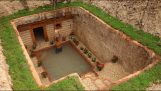 Creating a subterranean house with a pool
