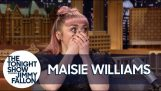 Actrice Maisie Williams druppels een grote Game of Thrones spoiler