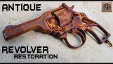restauro di un vecchio e arrugginito revolver