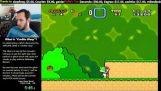 a glitch in Super Mario World results in breaking the world record