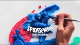 Stop-motion Spiderman fight with clay