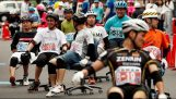 Japan organizes a race with office chairs