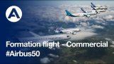 एयरबस 50 साल मनाता