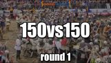 150 vs 150 Medieval battle