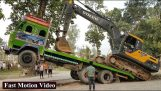 Excavator Loading and Unloading From Truck (Nepal)