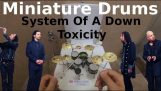 """Toxicity"" on a mini drum kit"