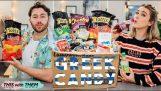 Британските хора, опитващи гръцки Candy