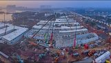 Timelapse de la construcción del hospital de Wuhan