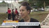 Дівчата роблять паркур в Бразилії (Fail)