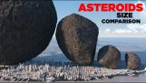 Comparison of size among all asteroids that have been sighted by man