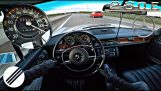 1973 Mercedes-Benz exceeds 220km/h on Autobahn
