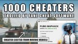 Cheaters trolled by a fake cheat program in PUBG