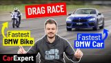 BMW M8 vs BMS S1000RR course de dragsters
