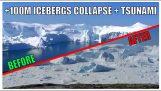 Impressive glacier calving