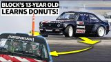 Ken Block teaches his 13-year-old daughter to drift