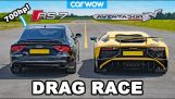 Drag race: Lamborghini Aventador vs 700hp Audi RS7