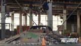Tony Hawk recreates the famous warehouse of his first video games