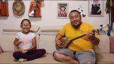 Krční zpěv Mongolce a jeho dcery