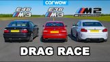 Drag Race: M3 E36 vs M3 E46 vs M2 Competition