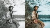 Colorized photos of American Indians in the Early 1900's